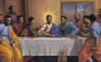 """ظهور مسيح """"أسود"""" في """"العشاء الأخير"""" يثير جدلا في بريطانيا"""