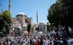 """آلاف المصلين يؤدون أول صلاة جمعة في مسجد """"آيا صوفيا"""""""