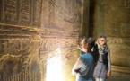 تعامد الشمس على مقصورة الولادة الإلهية بمعبد دندرة في قنا