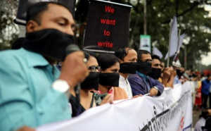 رؤوساء تحرير الصحف ببنجلاديش يحتجون على قانون جديد للصحافة